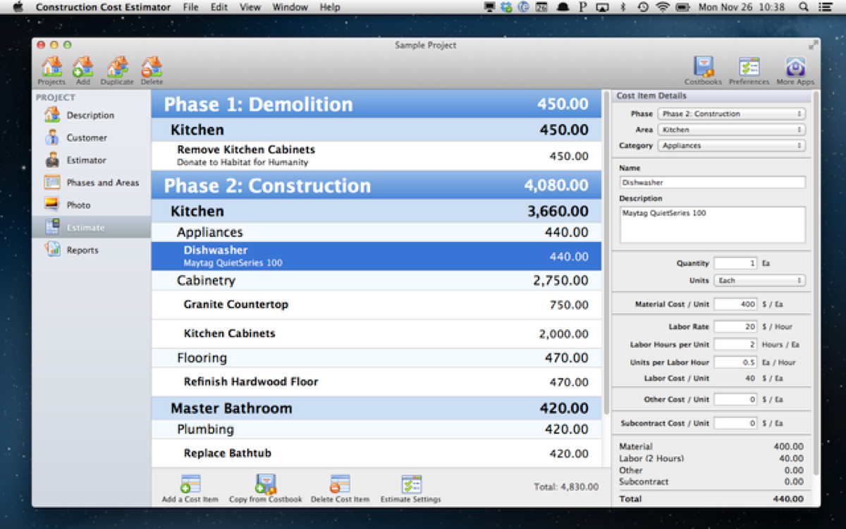 blog construction cost estimator estimate
